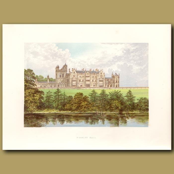 Antique print. Worsley Hall