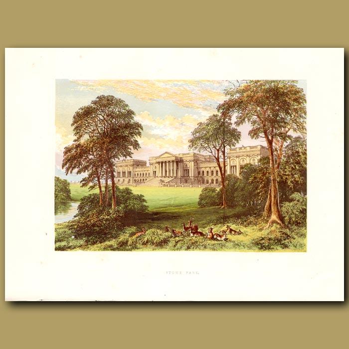 Antique print. Stowe Park