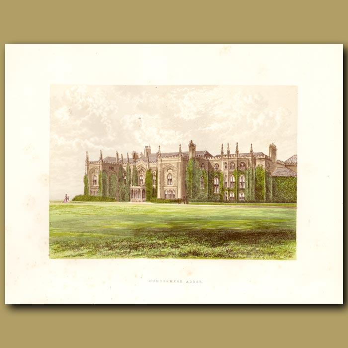 Antique print. Combermere Abbey