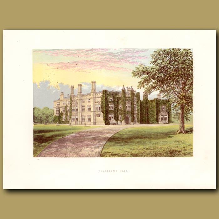 Antique print. Drakelow Hall