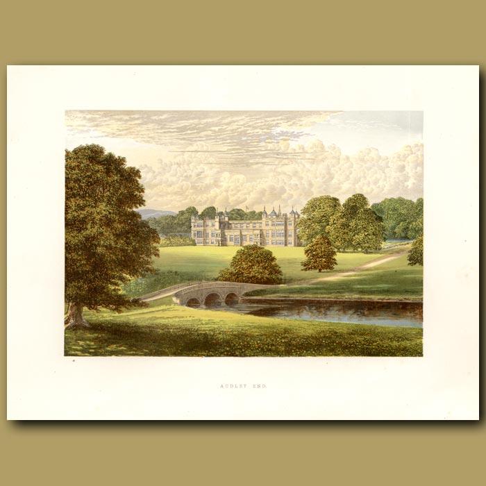 Antique print. Audley End