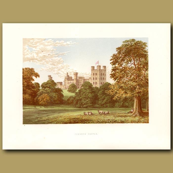 Antique print. Penrhyn Castle