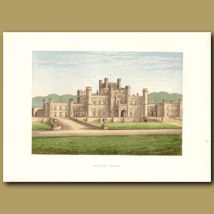 Antique print. Lowther Castle