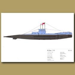 R Class Submarine 1918