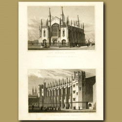 New Church, Stepney And The New Hall, Christs Hospital